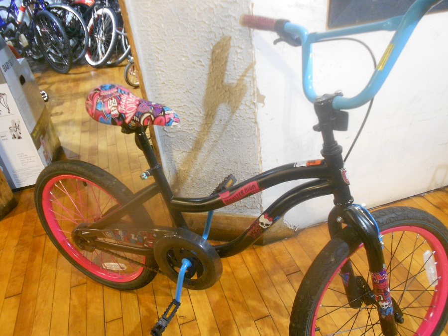 "Used Fully Serviced Monster High Ghouls Rule 20"" BMX $80"